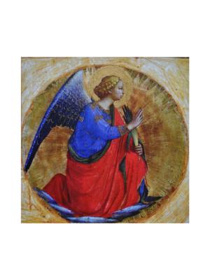 Obraz Anioł Stróż na drewnie