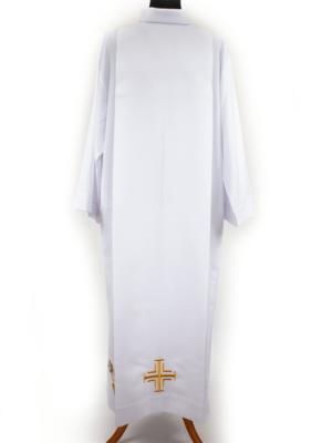 Alba z krzyżem i haftem eucharystycznym