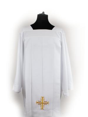 Komża z krzyżem i haftem eucharystycznym