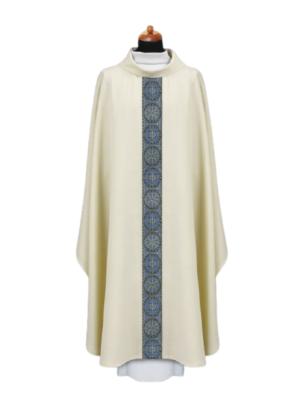 Ornat Maryjny z niebieskim pasem tkanym